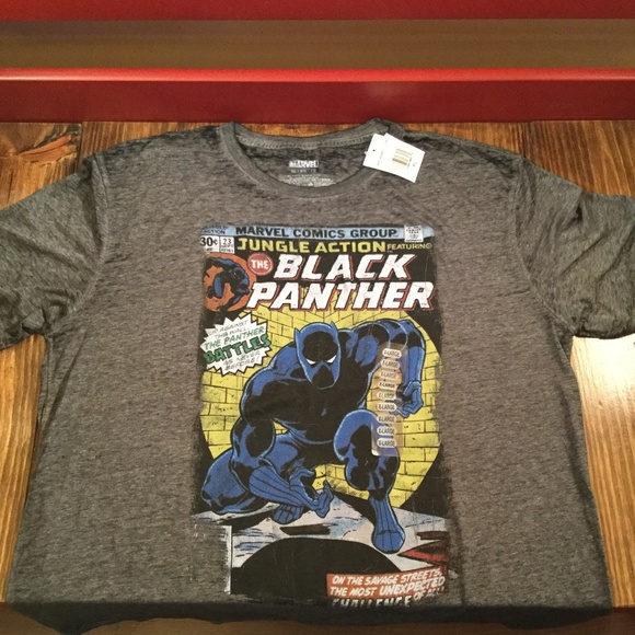 6f7cff4f1 Marvel Shirts | Black Panther Xl Comic Cover Mens Graphic Tshirt ...